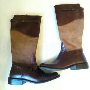 Matisse Suede Leather Contrast Riding Boots Sz 8.5